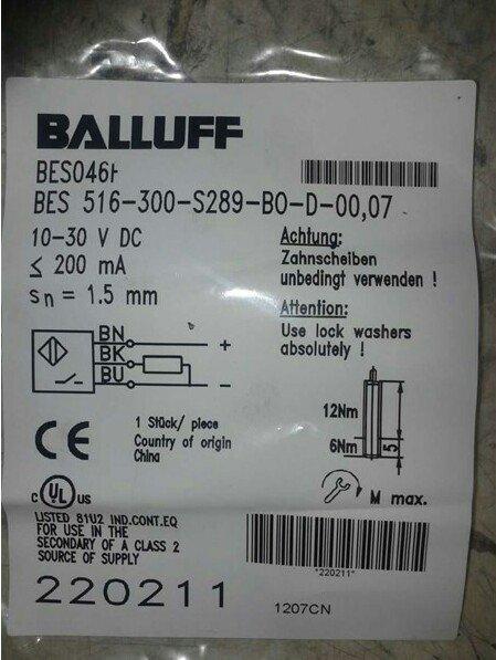 BALLUFF BES 516-300-S289-BO-D-00.07