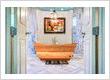 Wooden bath tubs.