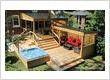 patio avec spa