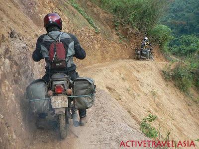 MOTORBIKE TRAVELLING IN MOUNTAINOUS AREAS IN VIETNAM