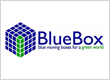 Blue Moving Boxes