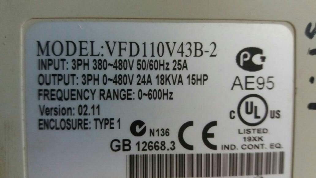 DELTA VFD110V43B-2