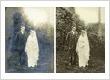 Restored faded wedding photo