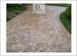 Stamped concrete for a residential driveway remodeling job