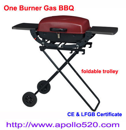 Offer One Burner Gas BBQ with Trolley