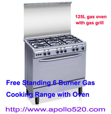 Offer: 35-Inch 6-Burner Propane Gas Range SS