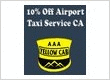 10% Off Airport Taxi Services in Tri Valley CA