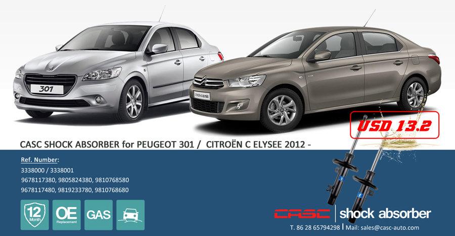 CASC shock absorber for Citroen C-Elysee / Peugeot 301.