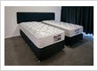 king split and zip bed as 2 long singles