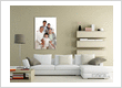 family portrait canvas print in living room