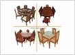 Carved Teak Tables and Sofa Sets