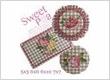 Sweet Roses Cross Stitch Mugrug Set 5x5 6x6 6x10 7x7