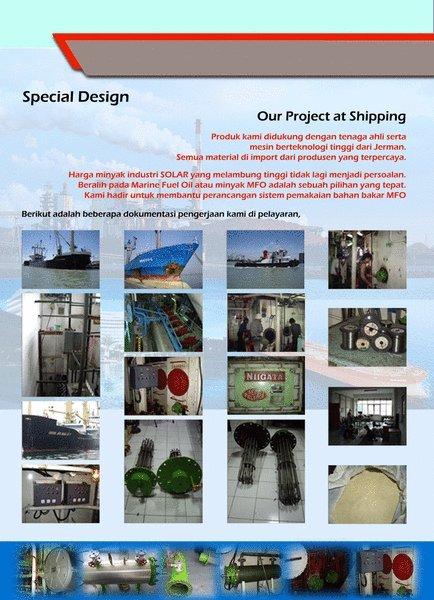 Sistem Bahan Bakar MFO dengan Heater L.O & M.F.O untuk Shipping - SINTECH