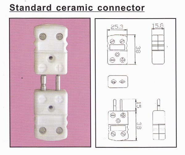 Jual Thermocouple Connector Standard Size Ceramic