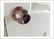 Newly replaced round room door knob