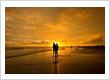Sunset at Parangtritis beach Yogyakarta