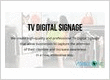 TV Advertising Signage
