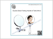 Double-Sided Folding Handle & Table Mirror