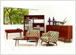 Original vintage and retro furniture crafted from teak wood
