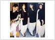 Black and white velvet patiala salwar suit