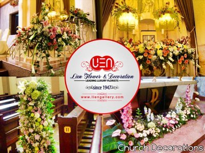 Bunga Pernikahan di Gereja - Wedding decorations in the church