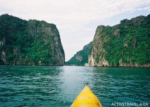 My stunning kayak in Halong Bay, Vietnam