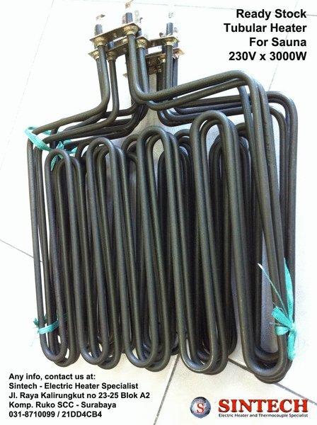 Tubular Heater for Sauna - Sintech - Spesialis Elemen Pemanas