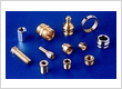 Brass Screw Machine Parts SS Aluminum Turned Components Parts