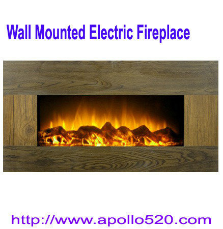 Offer 33-inch Wooden Panel Wall Mount Electric Fireplace Heater