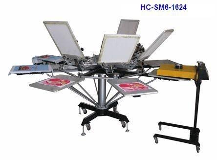 Manual 6 color screen printer