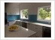 Blue kitchen splashbacks