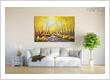 landscape painting in modern living room