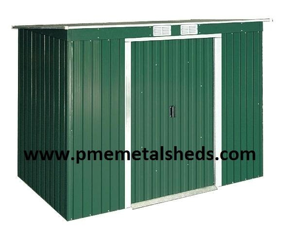 Pent Roof Metal Sheds 4 x 8 ft Easy Assembly Metal Buildings pmemetalsheds