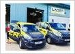 Laser Limited staff and vans