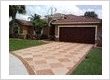 Decorative concrete for a residential driveway remodeling job
