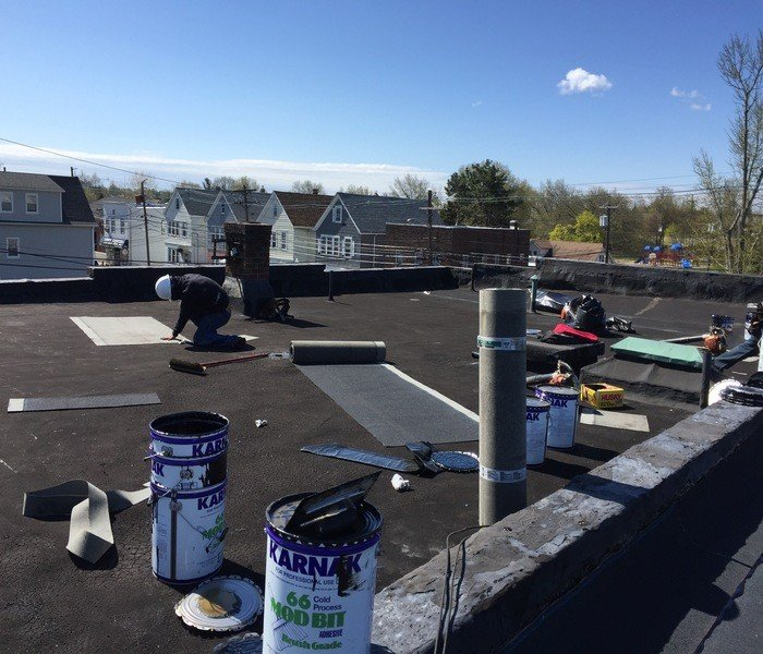 ... Flat Roof Installation In New Jersey.