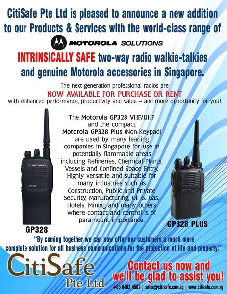 CitiSafe Pte Ltd is pleased to announce new additions to our Products & Services