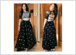 Stylish black designer crop top lehenga dress