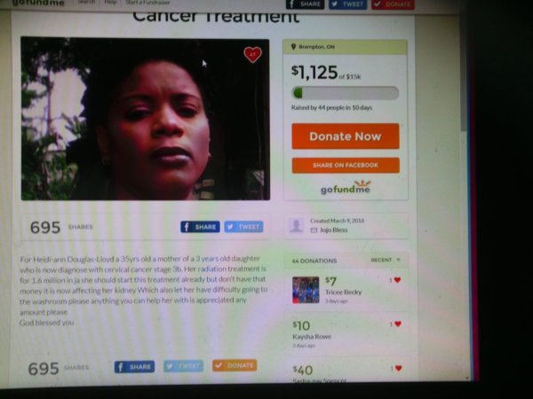 Welcome to the fundraiser for Heidi-Ann Douglas-Lloyd, Cervical Cancer Fight, Jamaica