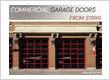 A commercial garage door made of glass