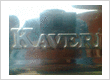 KAVERI APPLIANCES BRAND LOGO EMBOSSED ON STAINLESS STEEL SHEET