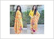 Phulkari yellow color patiala salwar suit
