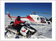 Exciting Snowmobile tour with helicopter flight