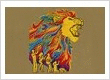 Colorful-Roaring-Lion-Embroidery-Design
