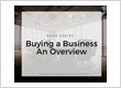 Buying A Business - An Overview