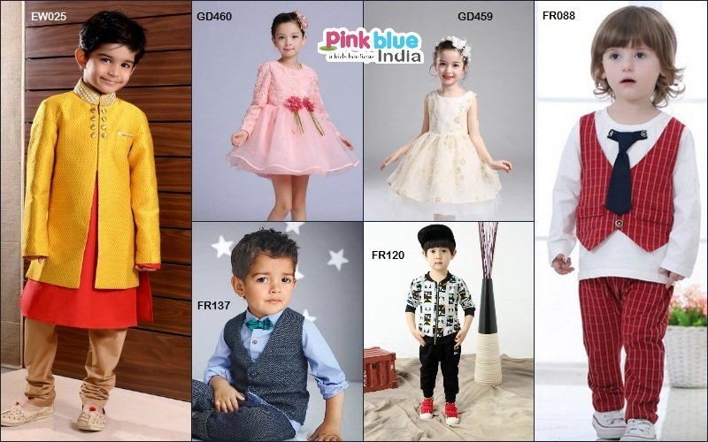 5d0a6c35f Party Wear New Dresses collection 2017 For Kids by Pink Blue India ...
