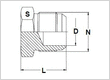 Stainless Steel 37 Degree  Flare Fittings Plugs