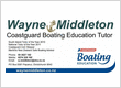 Wayne Middleton Coastguard Boating Education Tutor