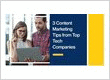 3 Content Marketing Tips from Top Tech Companies