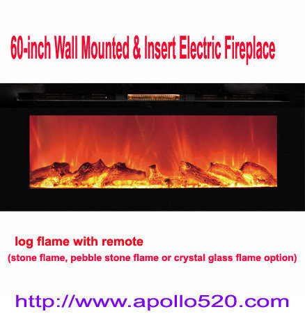 Offer 60 Built-in Wall Mount Electric Fireplace